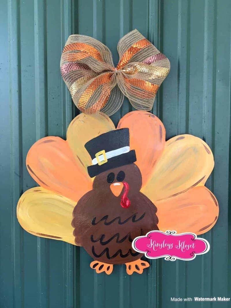 turkey wooden door hanger
