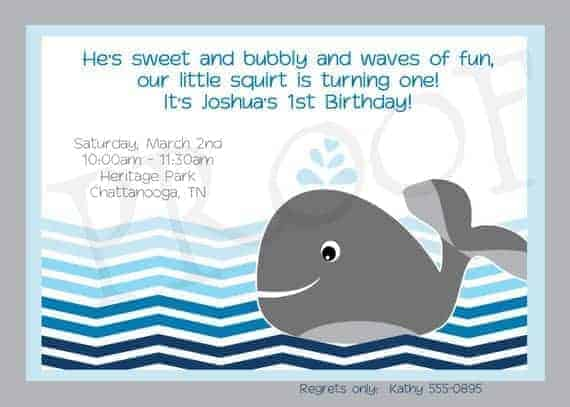 graphic about Whale Printable named Whale Birthday Celebration Invitation printable - Whale Printables Whale Celebration Ocean Chevron Do-it-yourself