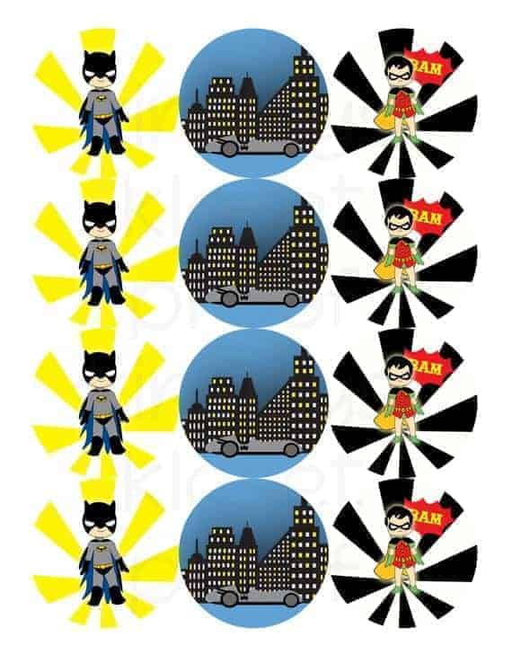 picture relating to Printable Cupcakes Toppers referred to as Printable Get together Circles - Batman Celebration Cupcake Toppers - Batman and Robin Occasion Printables - Superhero Birthday Occasion- Gotham metropolis