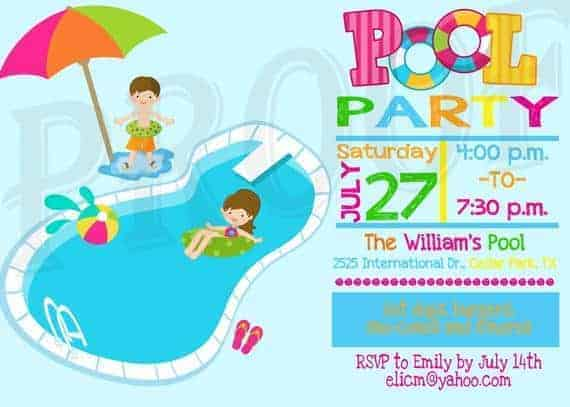 image relating to Pool Party Printable called Pool Bash Invitation Pool Celebration Decoration Youngsters Pool Celebration Printable Pool Bash invitation Pool Bash Invite Pool Bash Birthday invitation