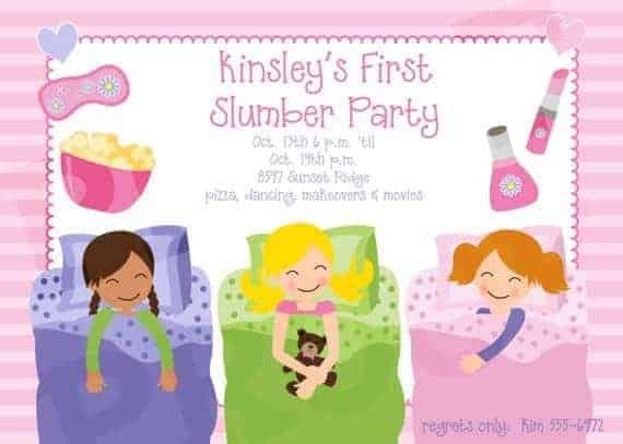 image relating to Printable Slumber Party Invitations called Printable Rest Social gathering Birthday, Printable Invitation, Woman celebration invitations - Sleep Get together