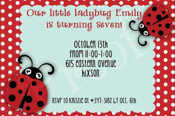 Pink Or Red Ladybug Invitation Lady Bug Birthday Party Invitations Printable