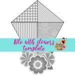 kite with flowers template