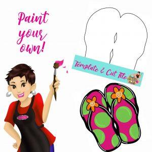 Flip Flops Paint your own