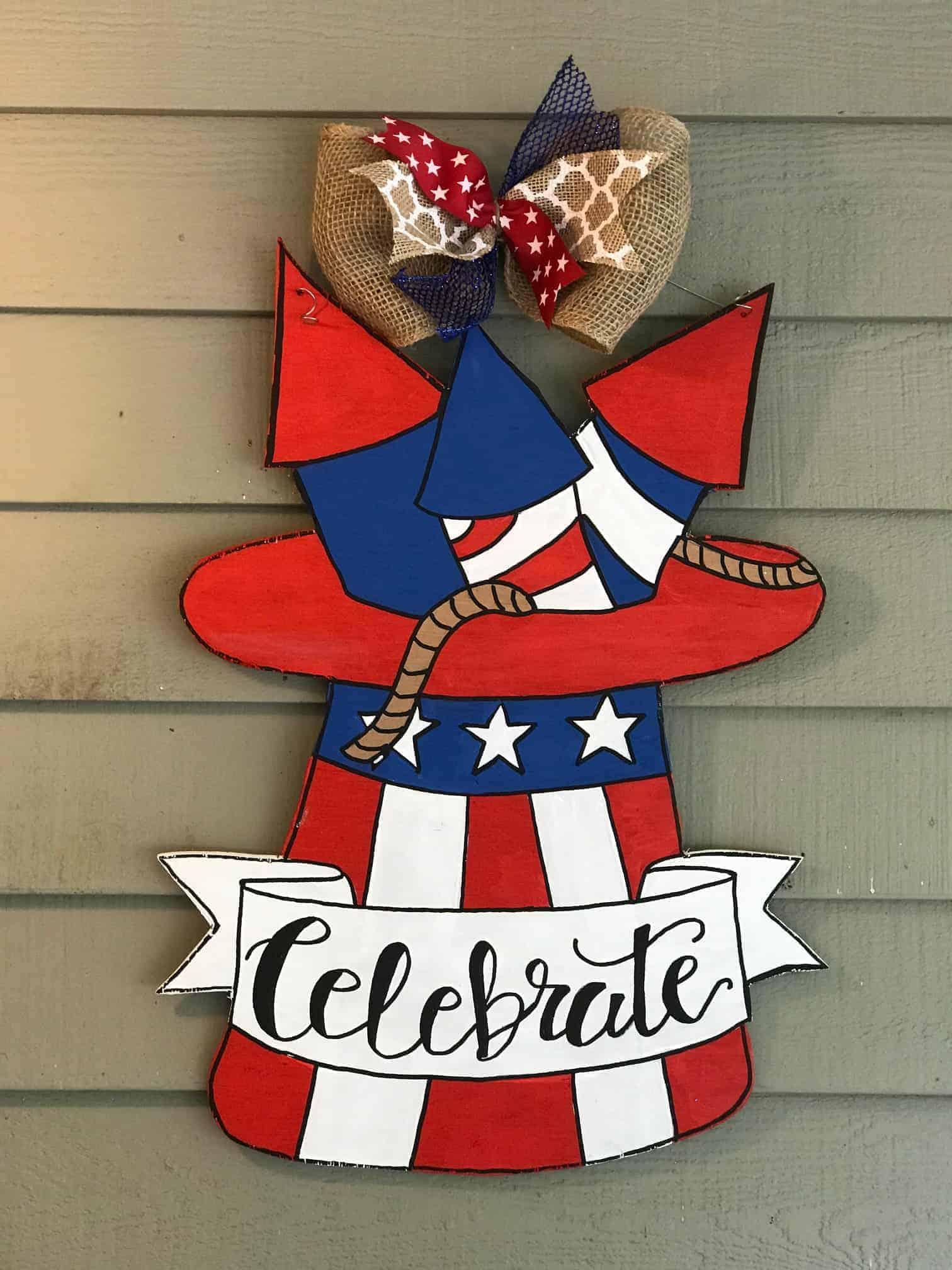 Patriotic Hat Door Hanger Template Kinsley S Creative Palette