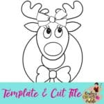 Reindeer Girl w wreath Template and Cut Fil