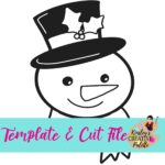 Snowman Template and Cut File