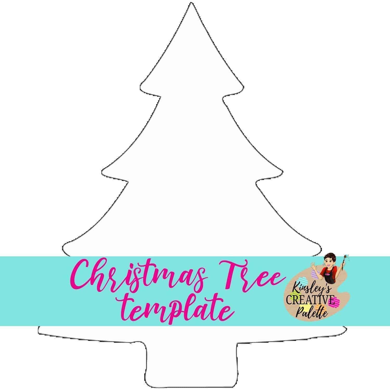 Christmas Tree Door Hanger Template Kinsley S Creative Palette