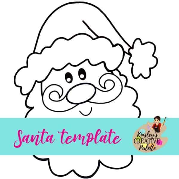 Santa door hanger template Christmas Santa face - Kinsley ...