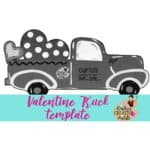 valentine truck template preview image