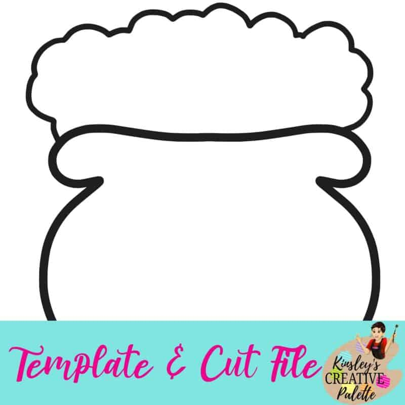 This is a graphic of Gorgeous Pot of Gold Printable Template