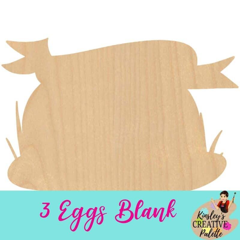 3 Eggs blank