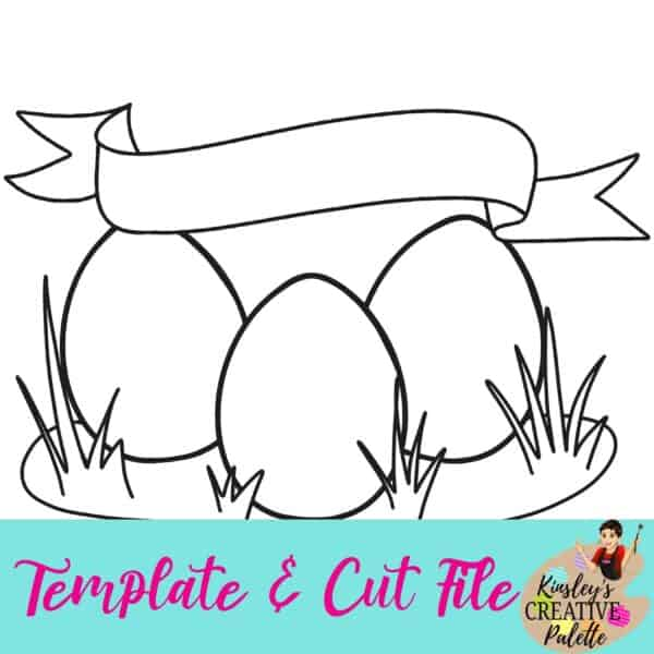 3 eggs template and cut file