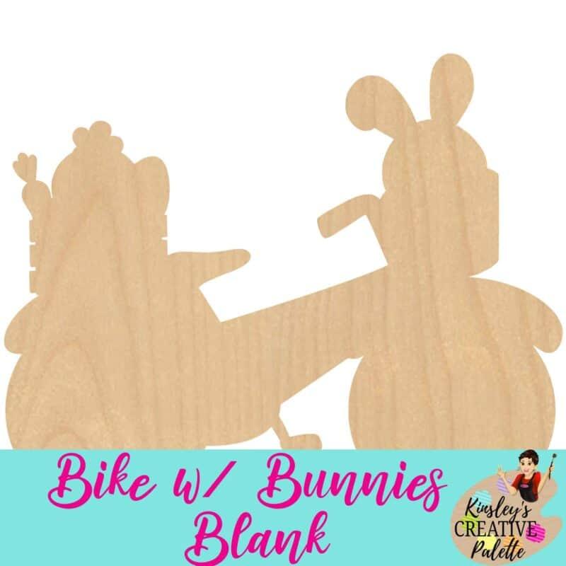 Bike w bunnies blank