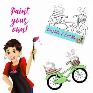 Bike w bunnies paint your own