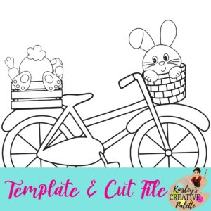 Bike w bunnies template and cut file