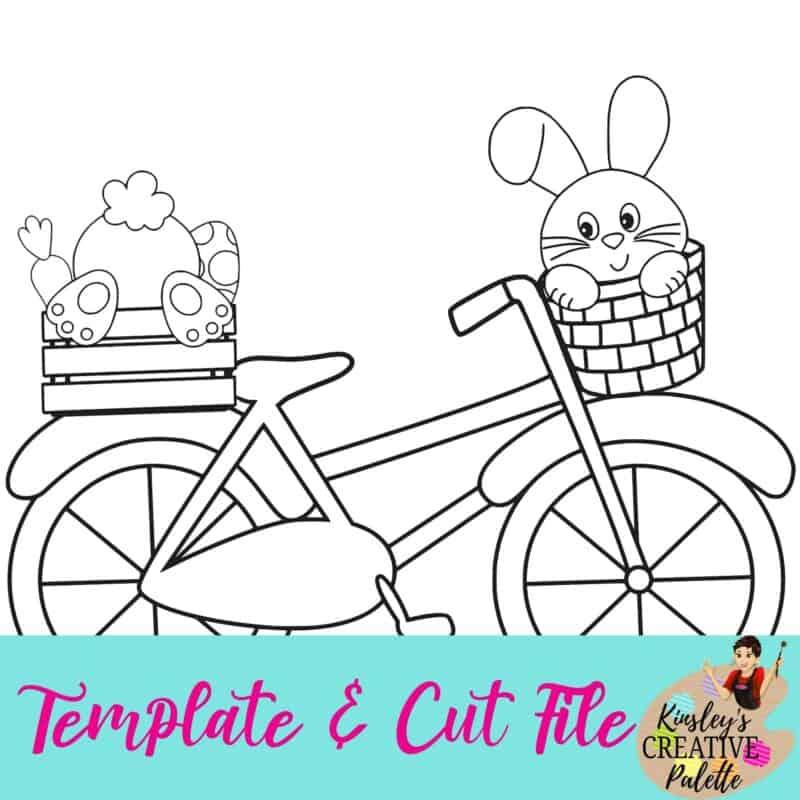 Bike w bunnies template and cut file