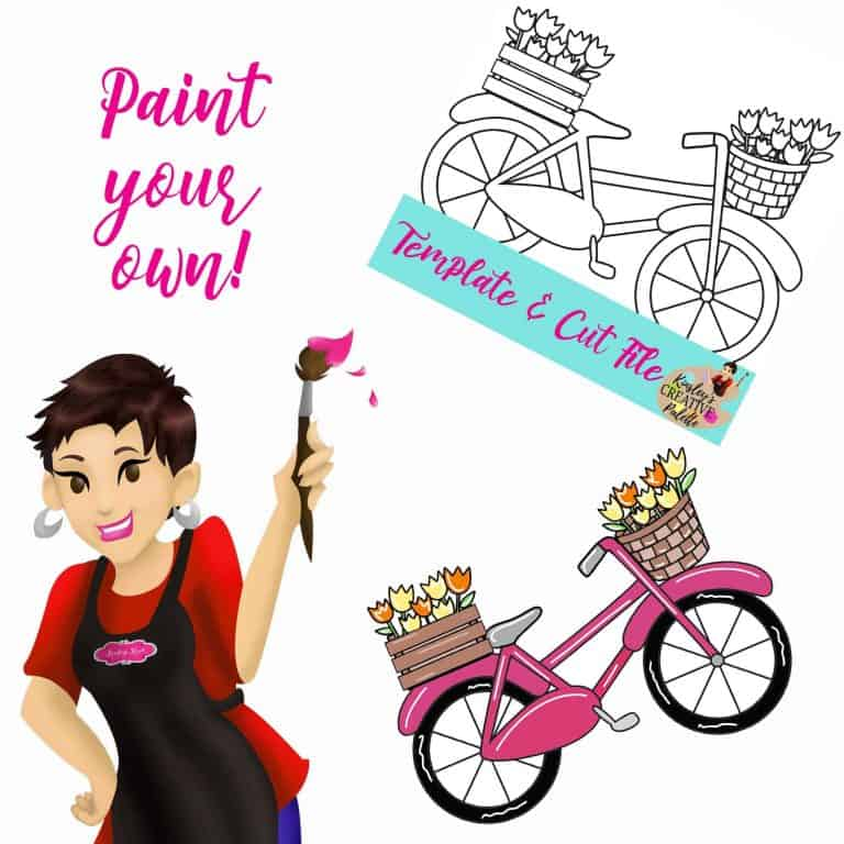 Bike w flowers Paint your own