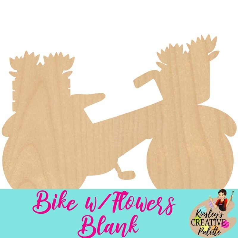 Bike w flowers blank