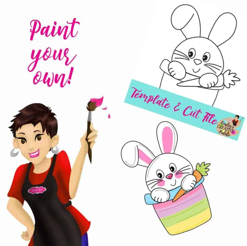 Bunny in Pail Paint your own