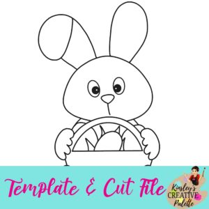 Bunny with Basket Template and cut file