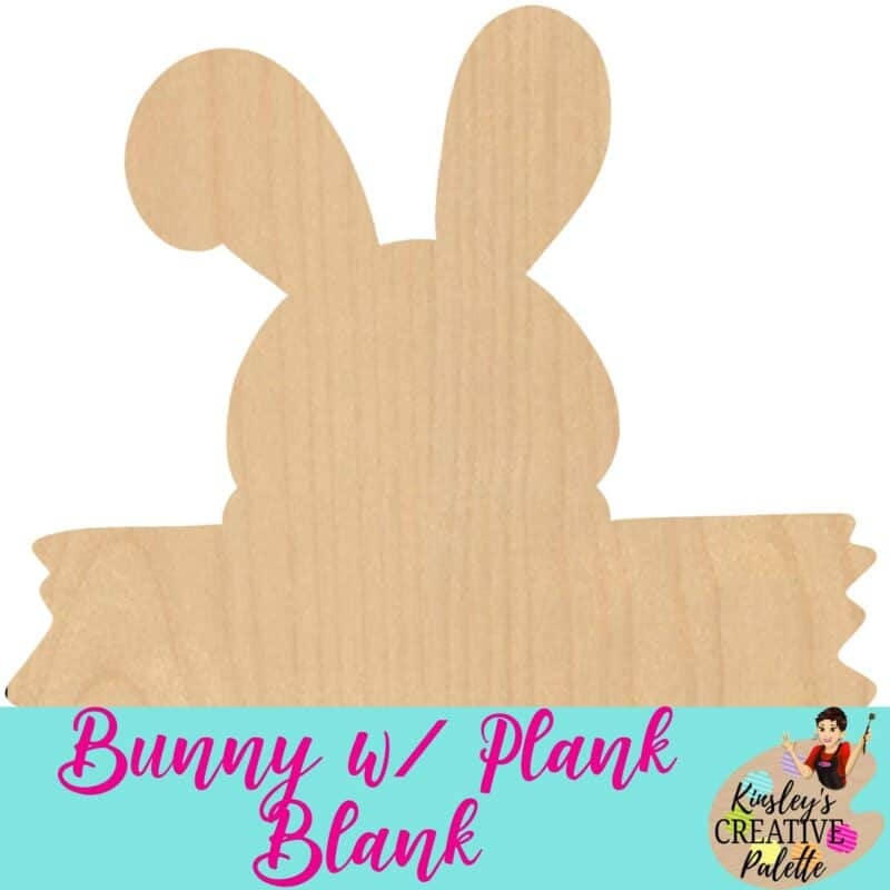 Bunny with plank blank