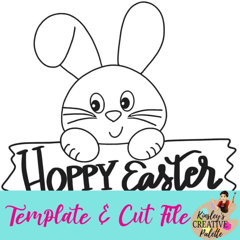 Bunny with plank template and cut file