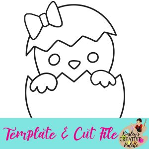 Girl-Chick-Template-and-Cut-File