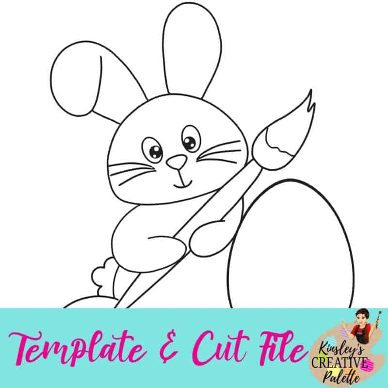 Painting Bunny Template and Cut File