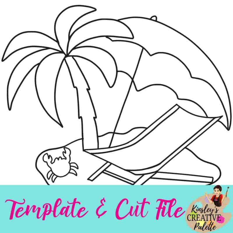 Beach Template and cut file