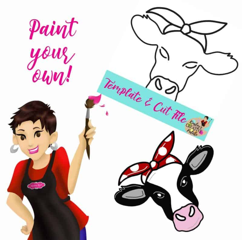 Cow Paint your own