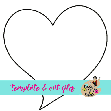 Funky Heart Door Hanger Template