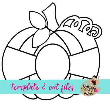 pumpkin door hanger template