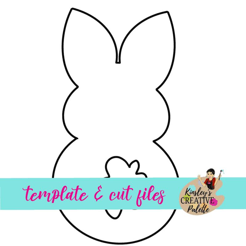 peep bunny door hanger