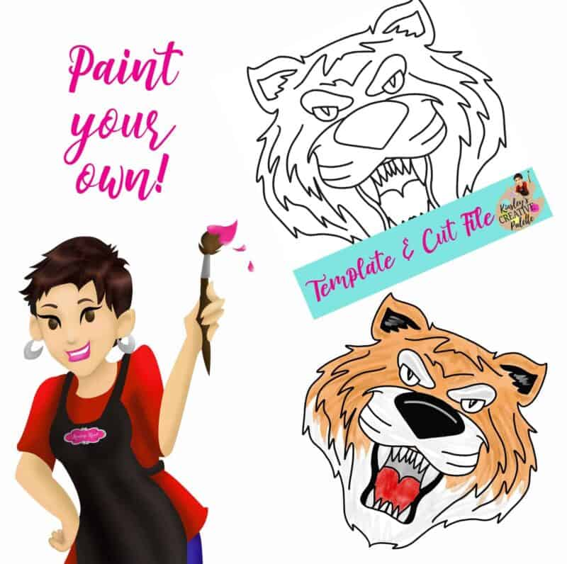 Tiger Paint your Own