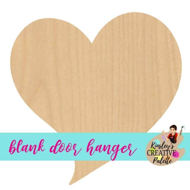 funky heart blank