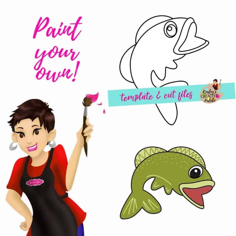 Fish door hanger template