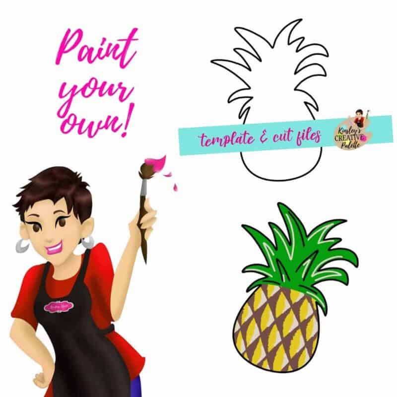 Pineapple Door Hanger Template