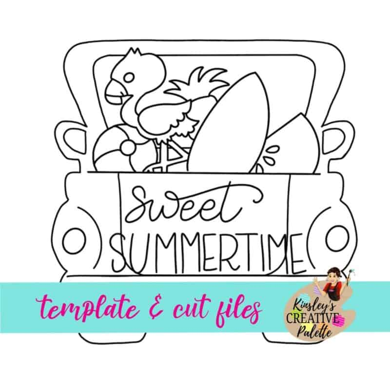 Summer Truck Door Hanger Template
