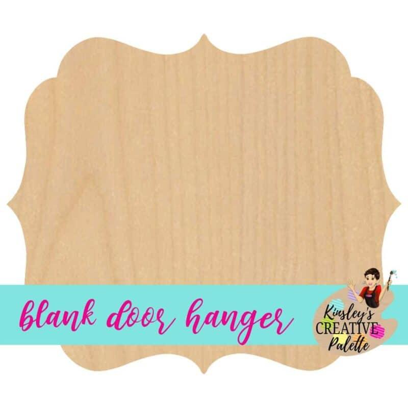Frame Door Hanger Template Blank