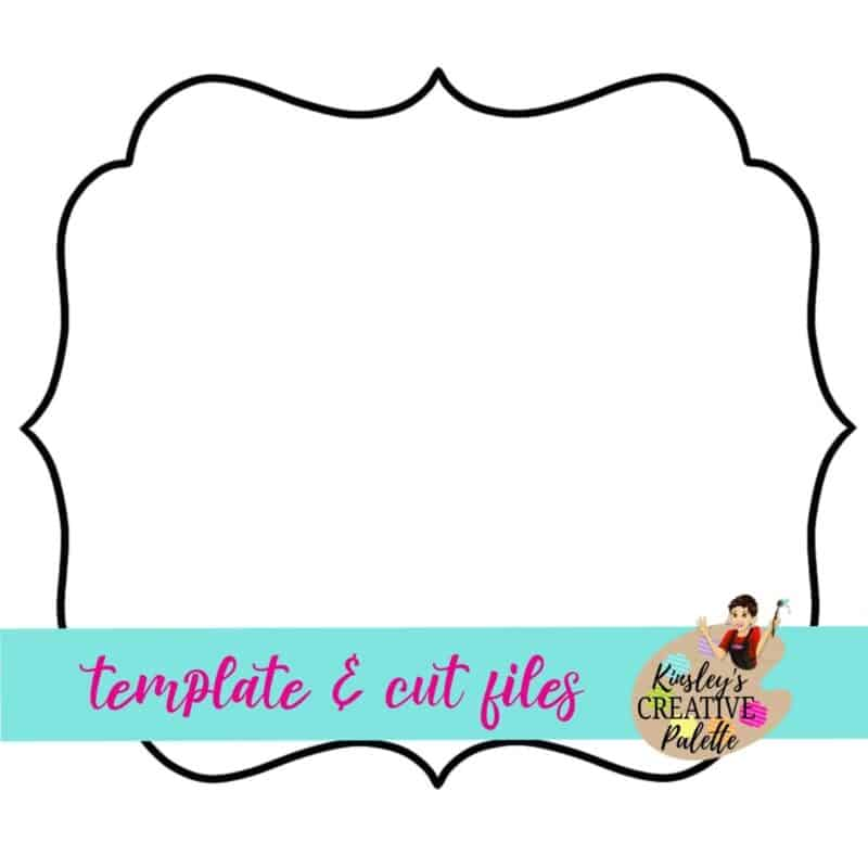 Frame Door Hanger Template