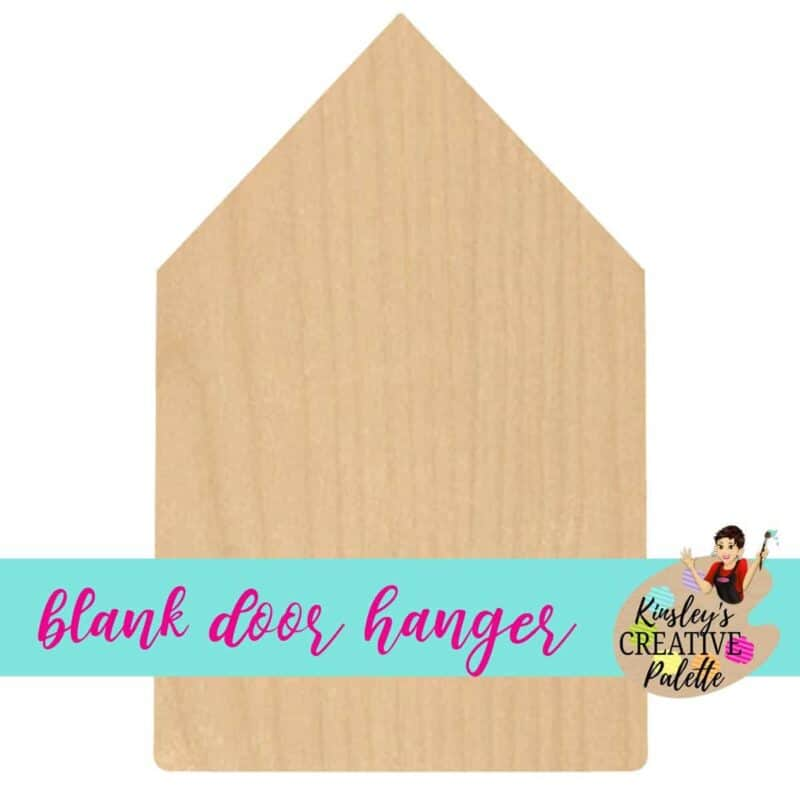 fat pencil door hanger blank