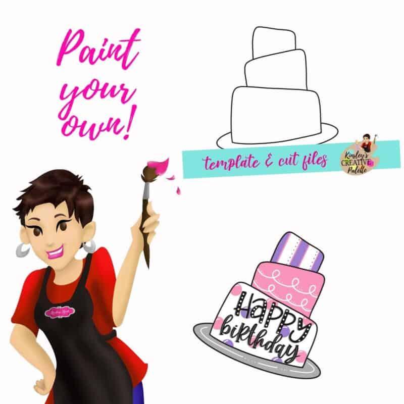 Birthday Cake Door Hanger Template