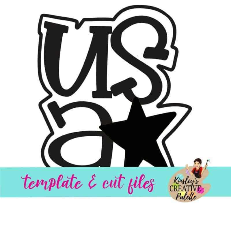 USA with 1 Star Door Hanger Template
