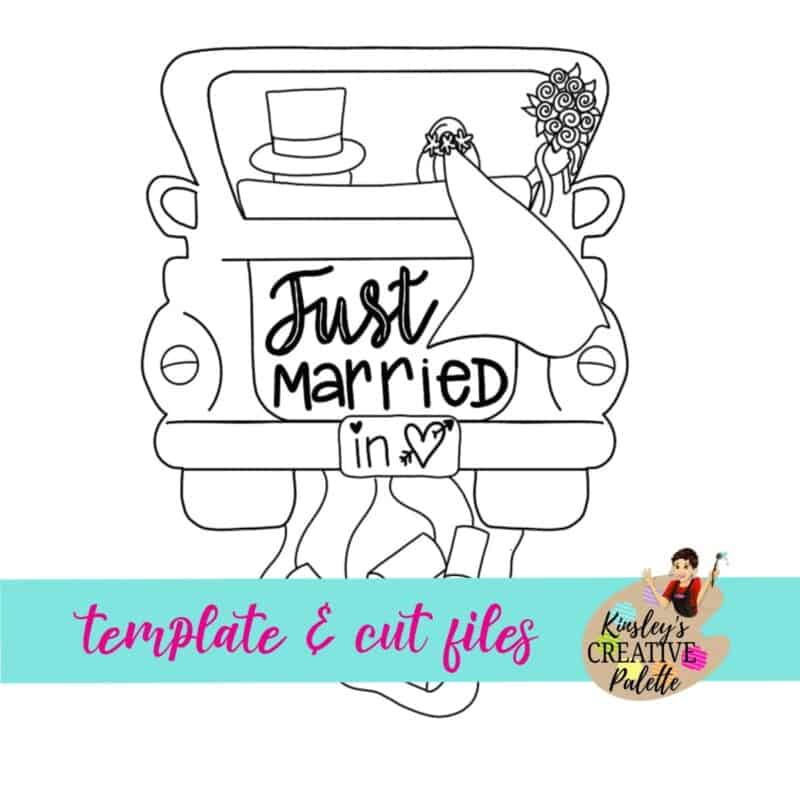Just Married Truck Door Hanger Template (Downloadable)