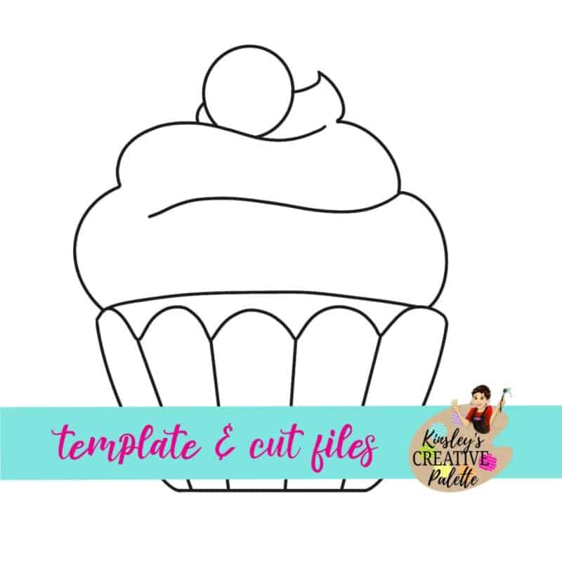 Cupcake with Cherry Door Hanger Template (Downloadable)