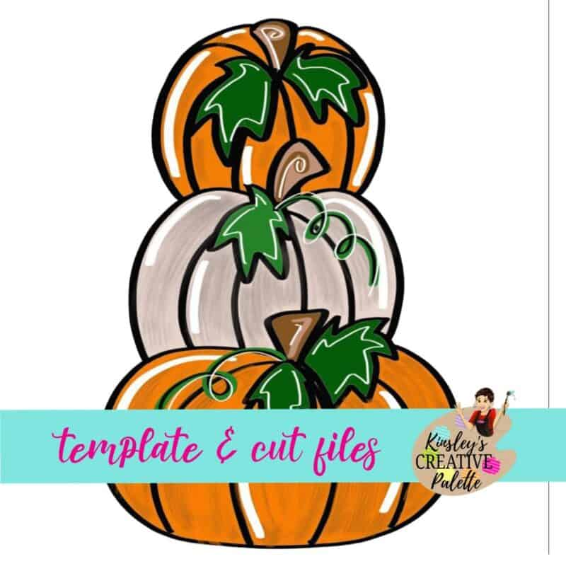 Pumpkin Stack Door Hanger Template (Downloadable)