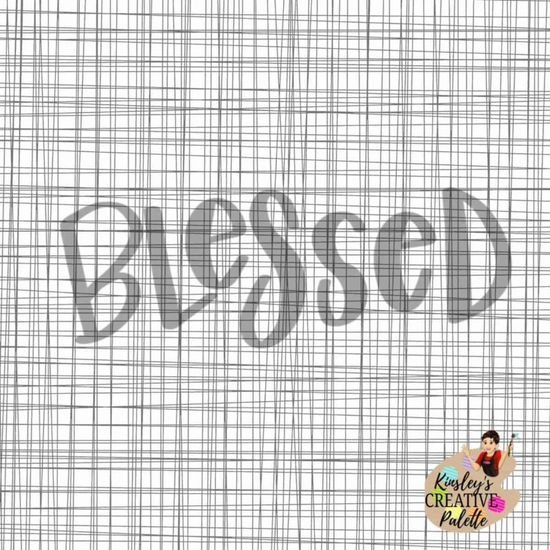 Blessed TRACEABLE Lettering Template