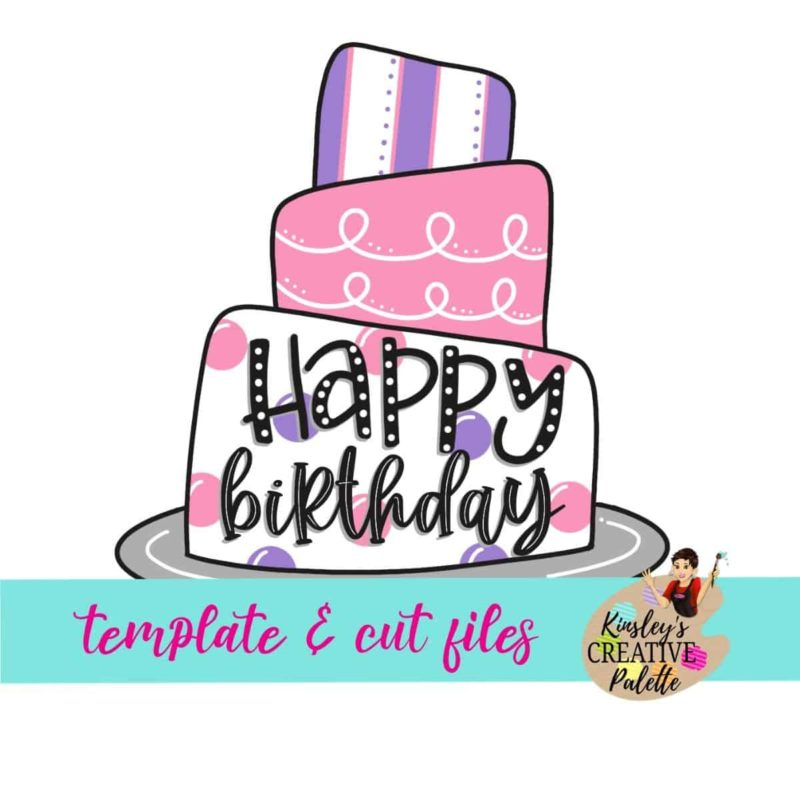 Birthday Cake Door Hanger Template