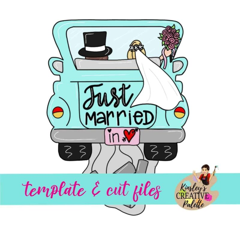 Just Married Door Hanger Template